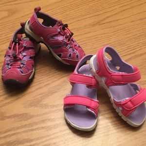 Other - ** 2 pair of shoes size  8 girls sandals